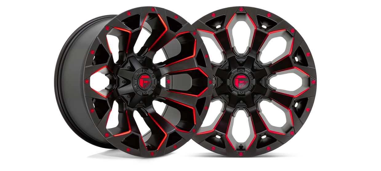 The Fuel Off-Road Assault Now Available in Matte Black Milled with Red Tint